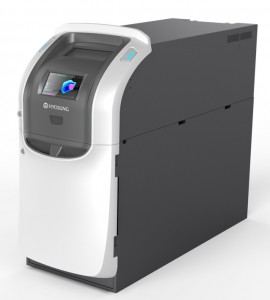 The Hyosung MoniSafe 400A Teller Cash Recycler is the only cassette based cash recycler with a full cassette for extra cash storage!